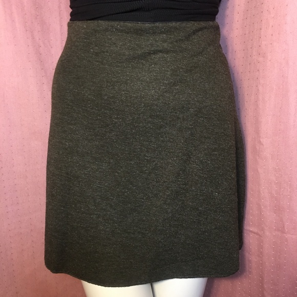 Zara Dresses & Skirts - Zara Knit Mini Skirt Dark Olive Green L